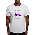 Purple Tractor Junkie Light T-Shirt