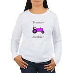 Purple Tractor Junkie Women's Long Sleeve T-Shirt