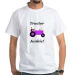 Purple Tractor Junkie White T-Shirt