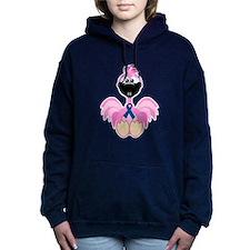 blue ribbon flamingo copy.png Hooded Sweatshirt
