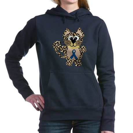 blue ribbon leopard copy.png Hooded Sweatshirt