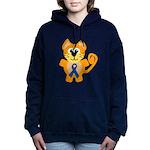 blue ribbon orange kitty cat copy.png Hooded Sweat