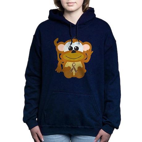 brown ribbon monkey.png Hooded Sweatshirt