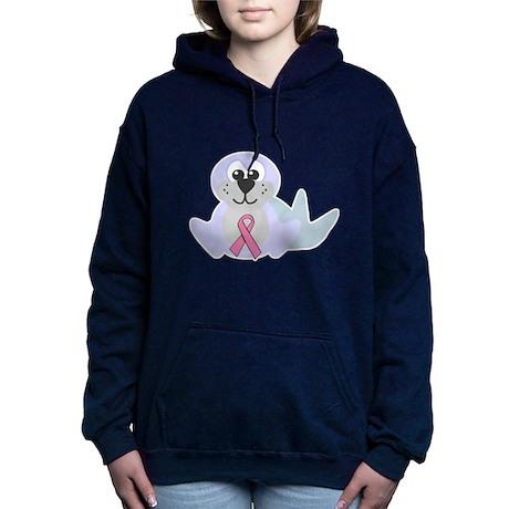pink ribbon seal.png Hooded Sweatshirt