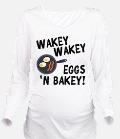 Bacon And Eggs Long Sleeve Maternity T-Shirt
