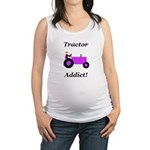 Purple Tractor Addict Maternity Tank Top