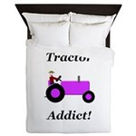 Purple Tractor Addict Queen Duvet
