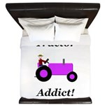 Purple Tractor Addict King Duvet