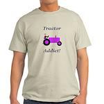 Purple Tractor Addict Light T-Shirt