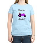 Purple Tractor Addict Women's Light T-Shirt