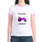 Purple Tractor Addict Jr. Ringer T-Shirt