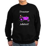 Purple Tractor Addict Sweatshirt (dark)