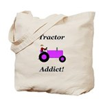 Purple Tractor Addict Tote Bag