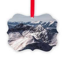 Jagged Mountain Home Ornament