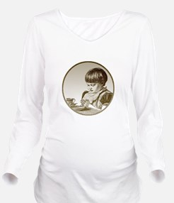 FIN-child-saying-grace.png Long Sleeve Maternity T