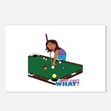 Girl Playing Billiards - Dark Postcards (Package o