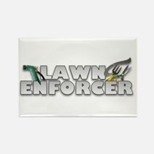 Garden Lawn Enforcer Rectangle Magnet