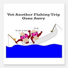 Fishing Hams Square Car Magnet 3&Quot; X 3&Quot;