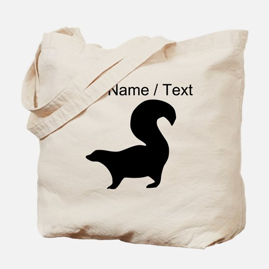 Custom Skunk Silhouette Tote Bag