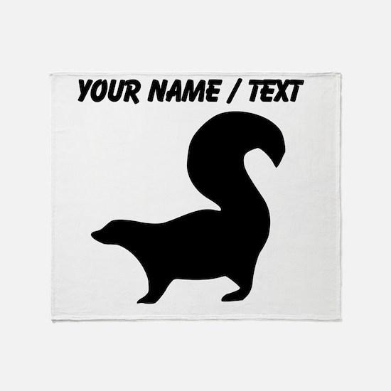 Custom Skunk Silhouette Throw Blanket