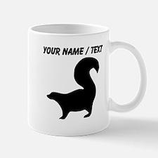 Custom Skunk Silhouette Mugs