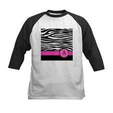 Pink Letter A Zebra stripe Baseball Jersey