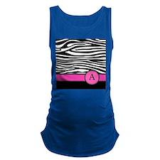 Pink Letter A Zebra stripe Maternity Tank Top