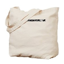 Black and White Stripe Star Tote Bag