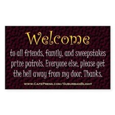 No Soliciting Welcome Decal