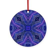 kaleido art 15 blue Ornament (Round)
