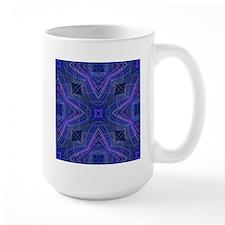 kaleido art 15 blue Mugs