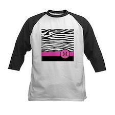 Pink Letter M Zebra stripe Baseball Jersey