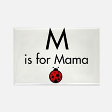 Ladybug Mama Rectangle Magnet