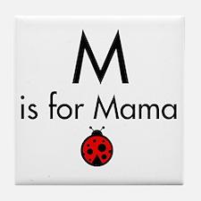 Ladybug Mama Tile Coaster