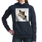 wolf smiling copy.jpg Hooded Sweatshirt
