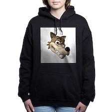 wolf smiling copy.jpg Hooded Sweatshirt