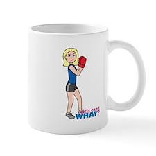 Girl Boxing - Light/Blonde Mug