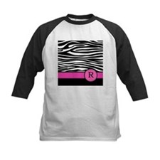 Pink Letter R Zebra stripe Baseball Jersey