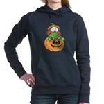 frog in pumpkin copy.png Hooded Sweatshirt