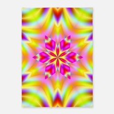 Psychedelic Star 5'x7'Area Rug