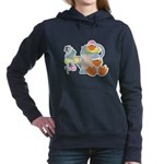 baby ducks and watering can.png Hooded Sweatshirt