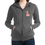 bunny with plaid egg.png Zip Hoodie