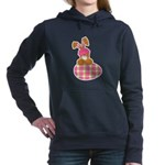 bunny with plaid egg.png Hooded Sweatshirt