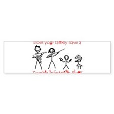 zombie_survival_sticker Bumper Bumper Sticker