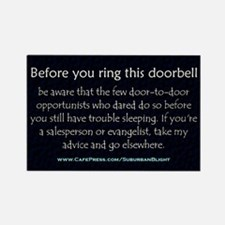 No Soliciting Trouble Sleeping Magnets