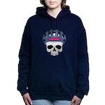 cycling skull copy.jpg Hooded Sweatshirt