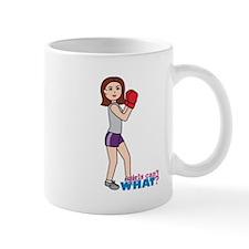 Girl Boxing - Light/Brunette Mug