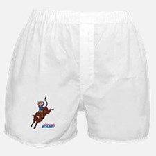 Bull Rider Woman Light/Red Boxer Shorts