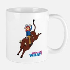 Bull Rider Woman Light/Red Mug