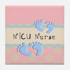 NICU Nurse Pillow pink Tile Coaster